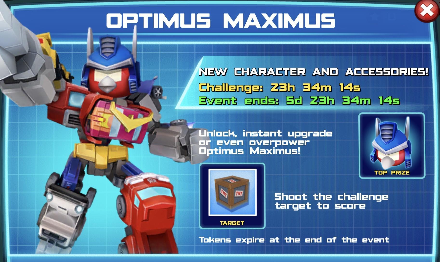 Optimus Maximus event banner
