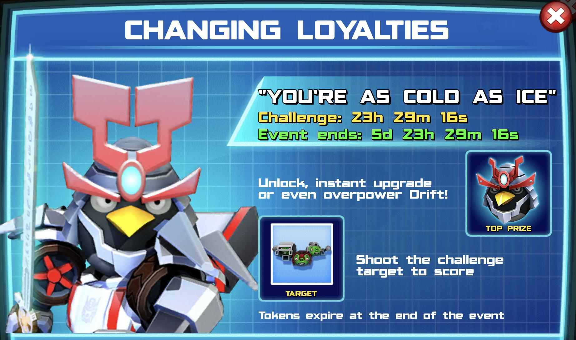 Event Banner for Changing Loyalties