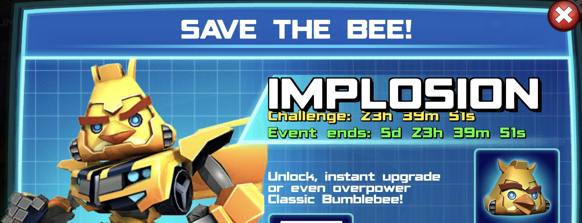 The event banner for Save The Bee!