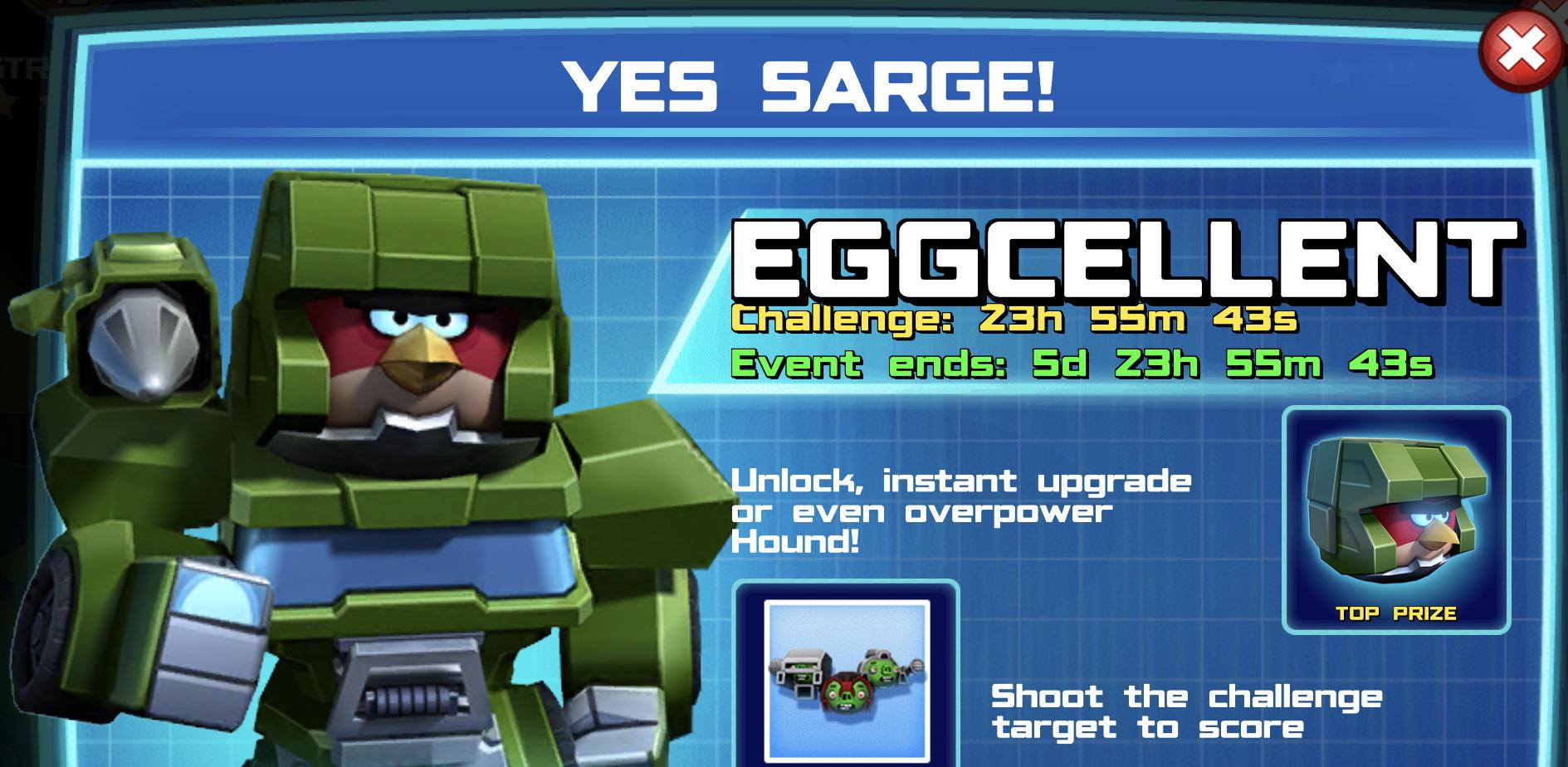 The event banner for Yes Sarge!