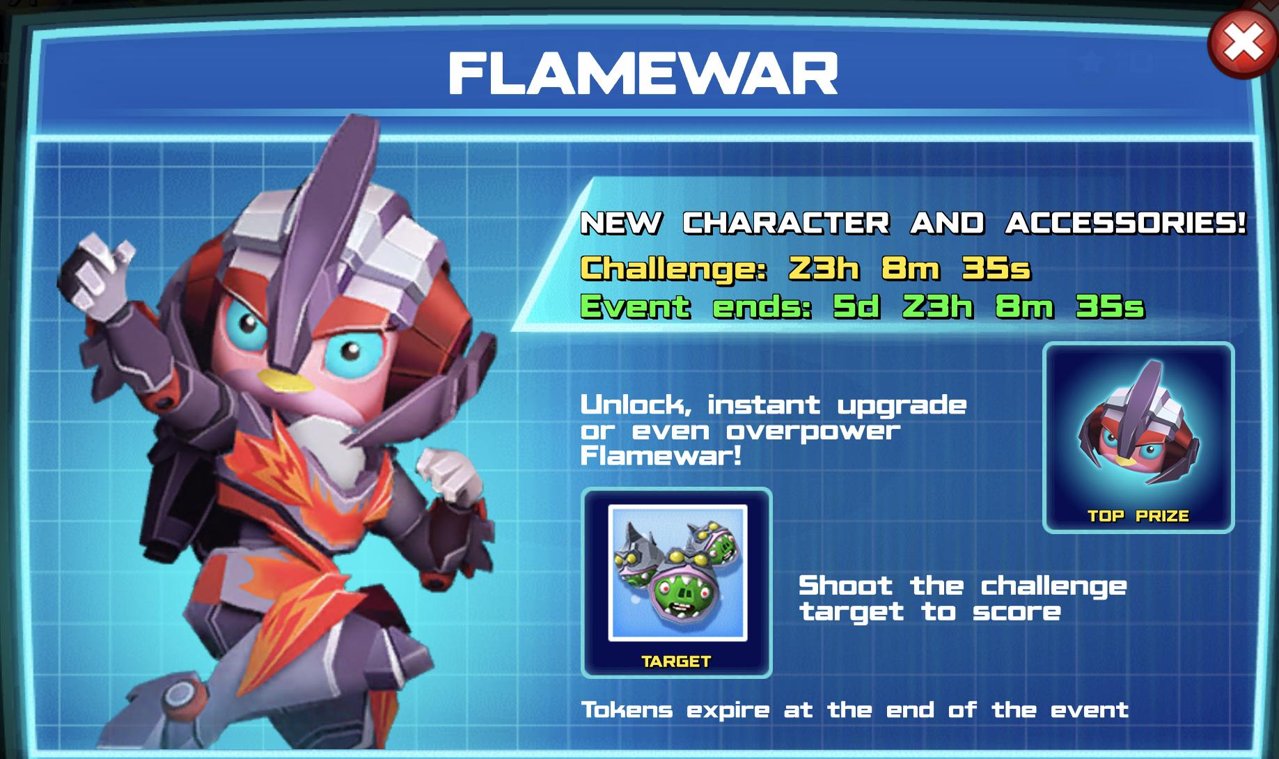 The banner for Flamewar event