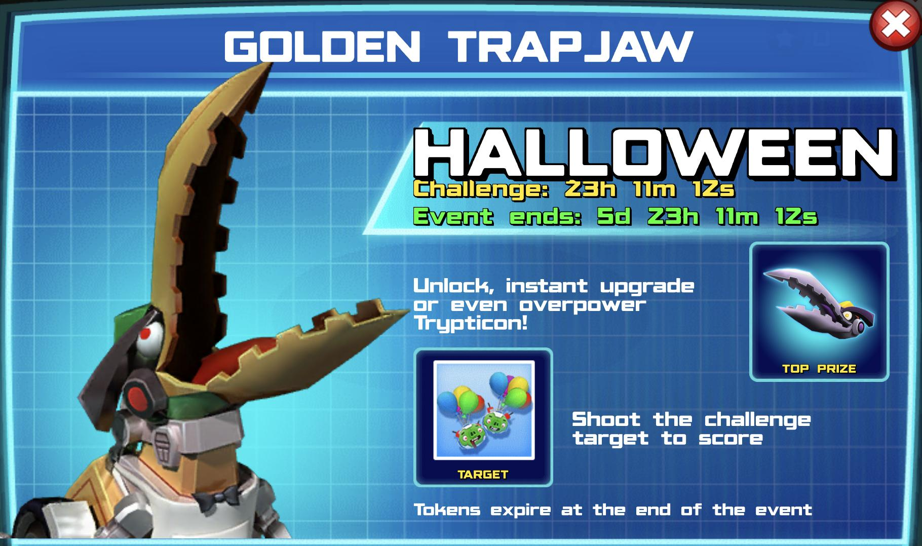 The event banner for Golden Trapjaw