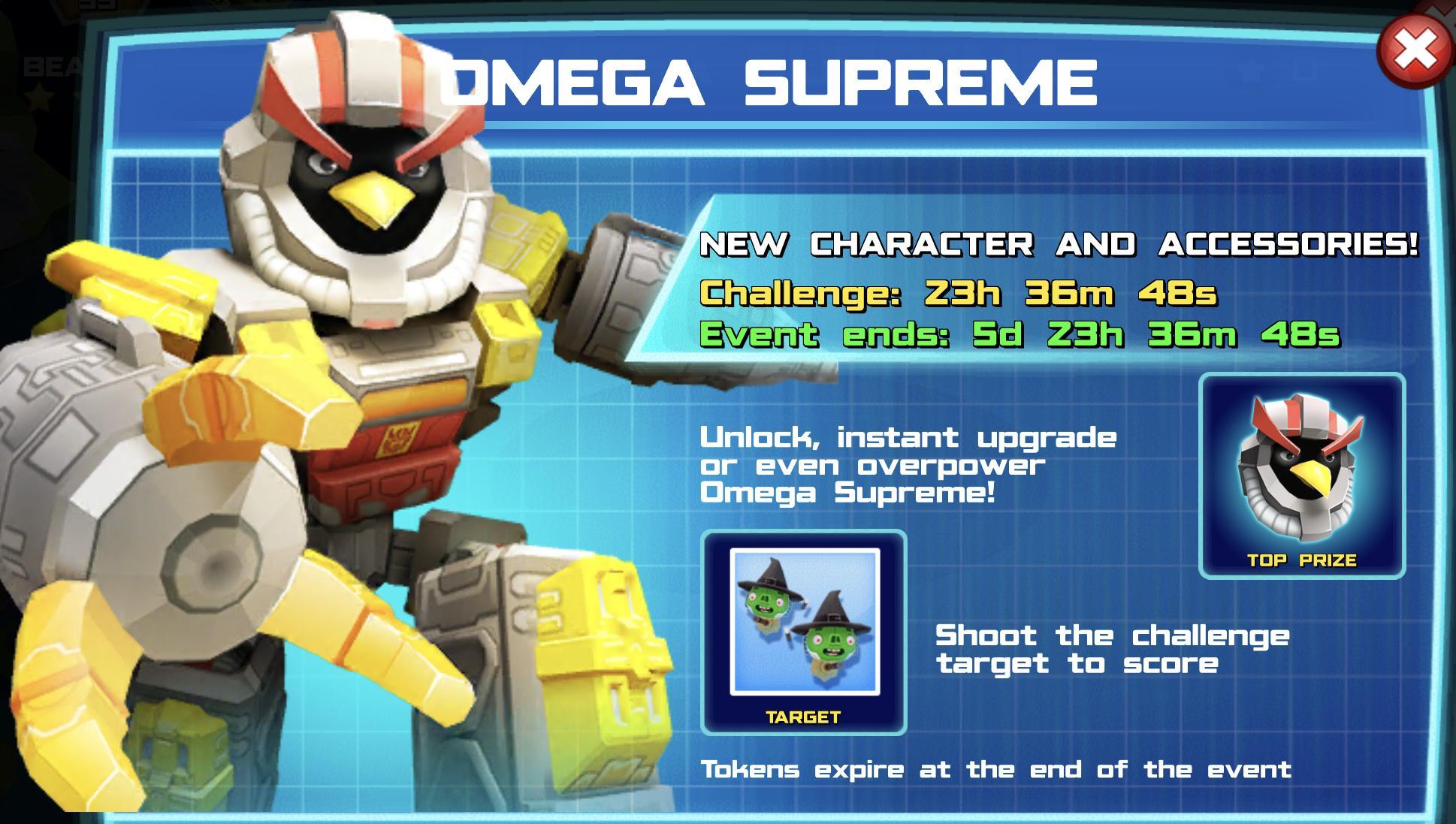 Omega Supreme event banner