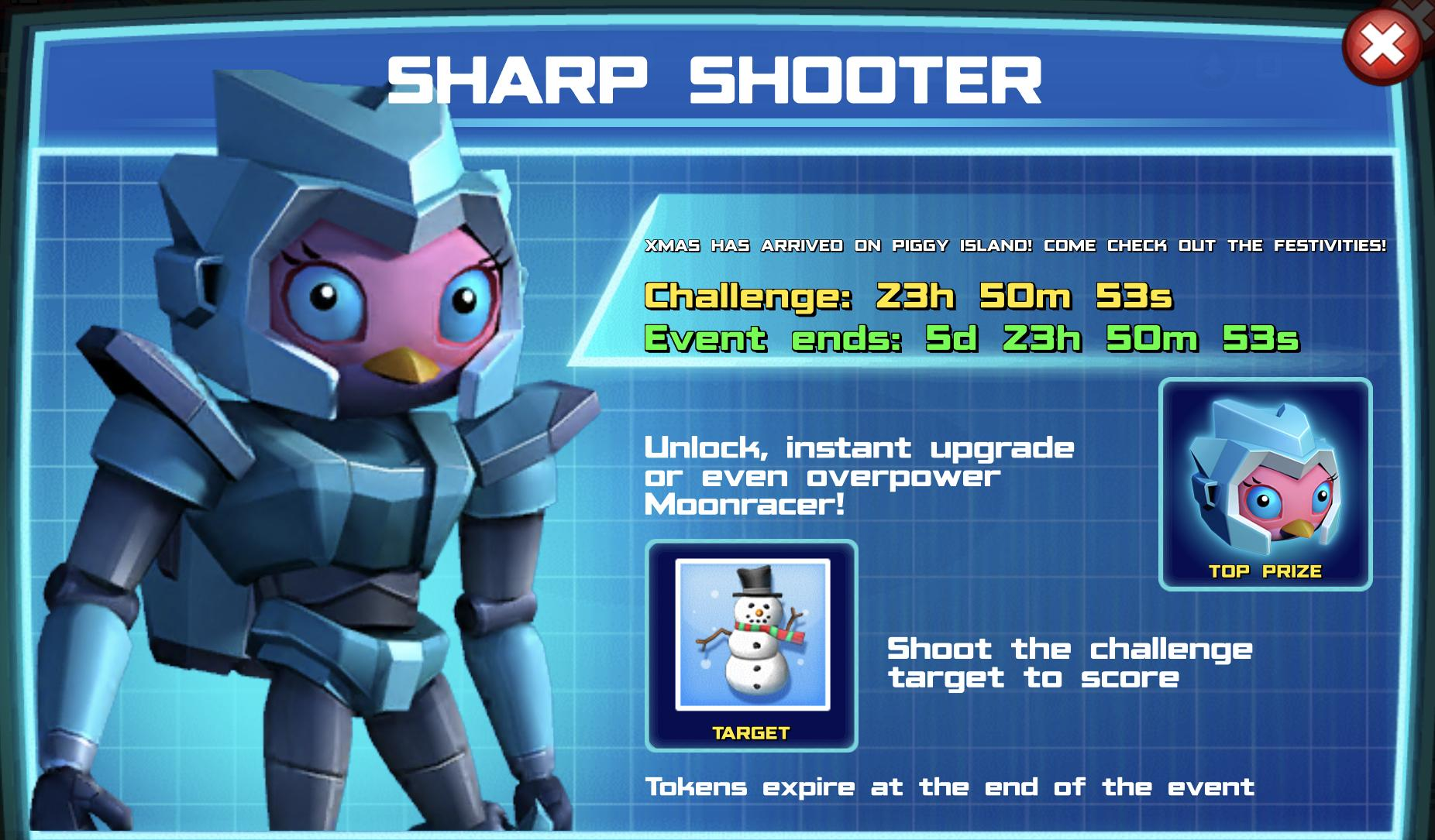 The event banner for Sharp Shooter
