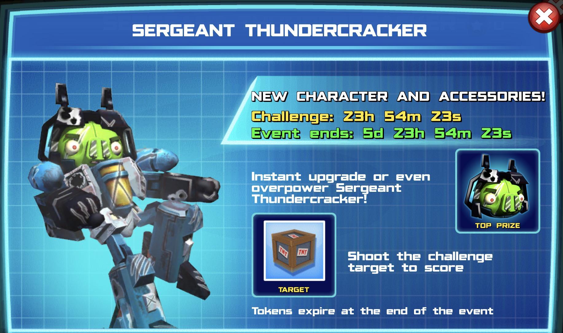 The event banner for Sergeant Thundercracker
