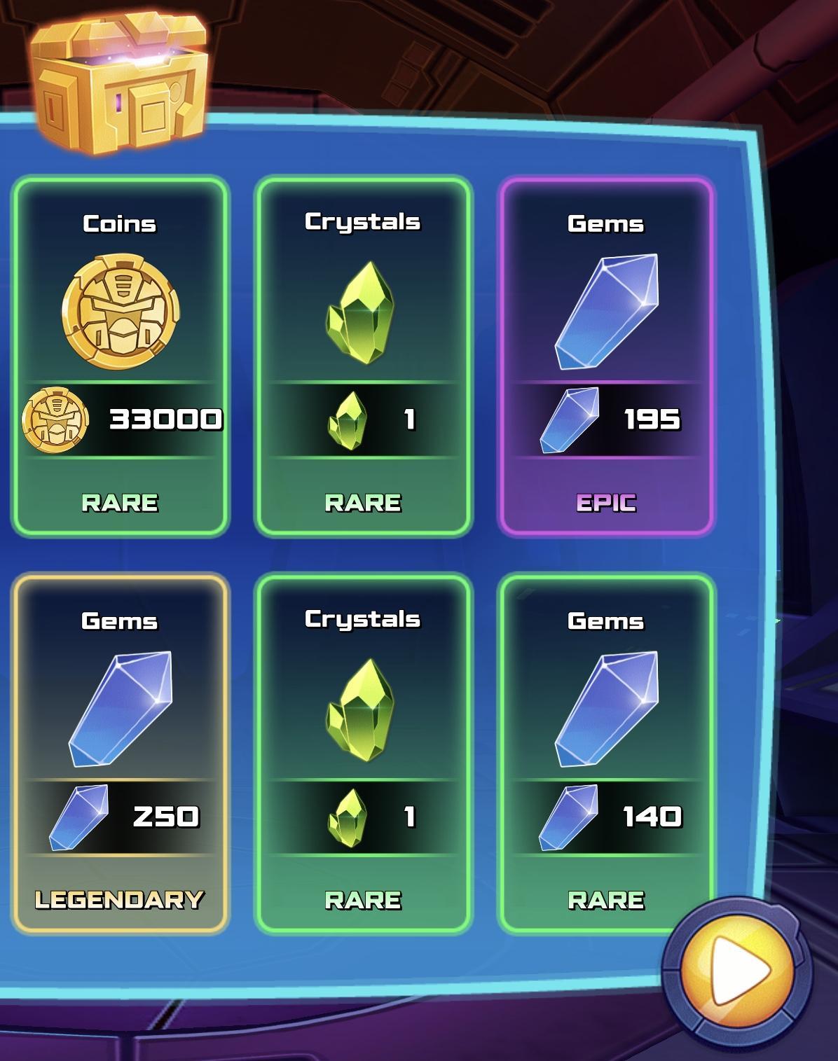 Six Gold Crates
