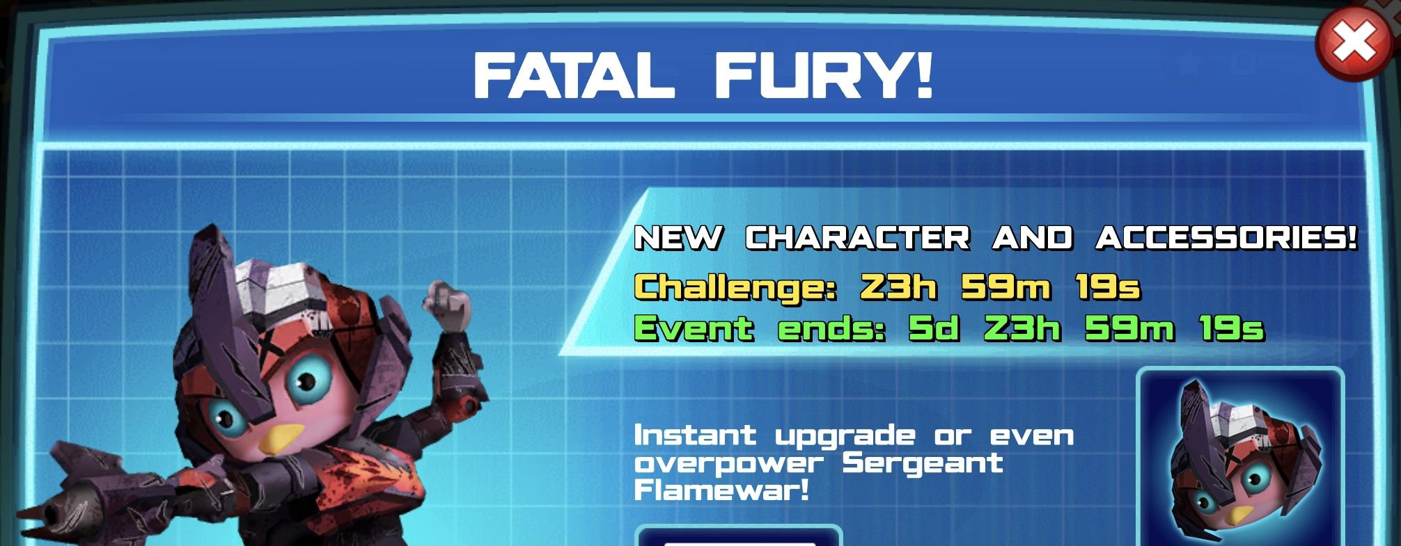The event banner for Fatal Fury