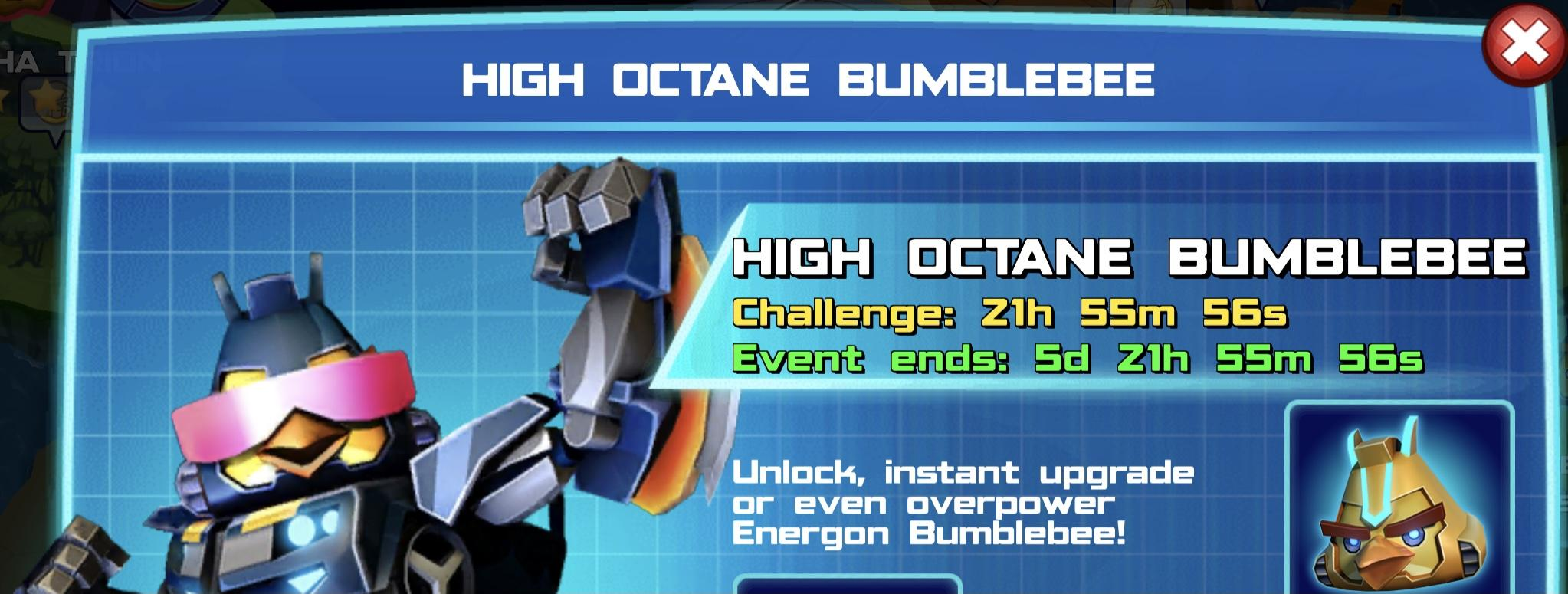 The event banner for High Octane Bumblebee