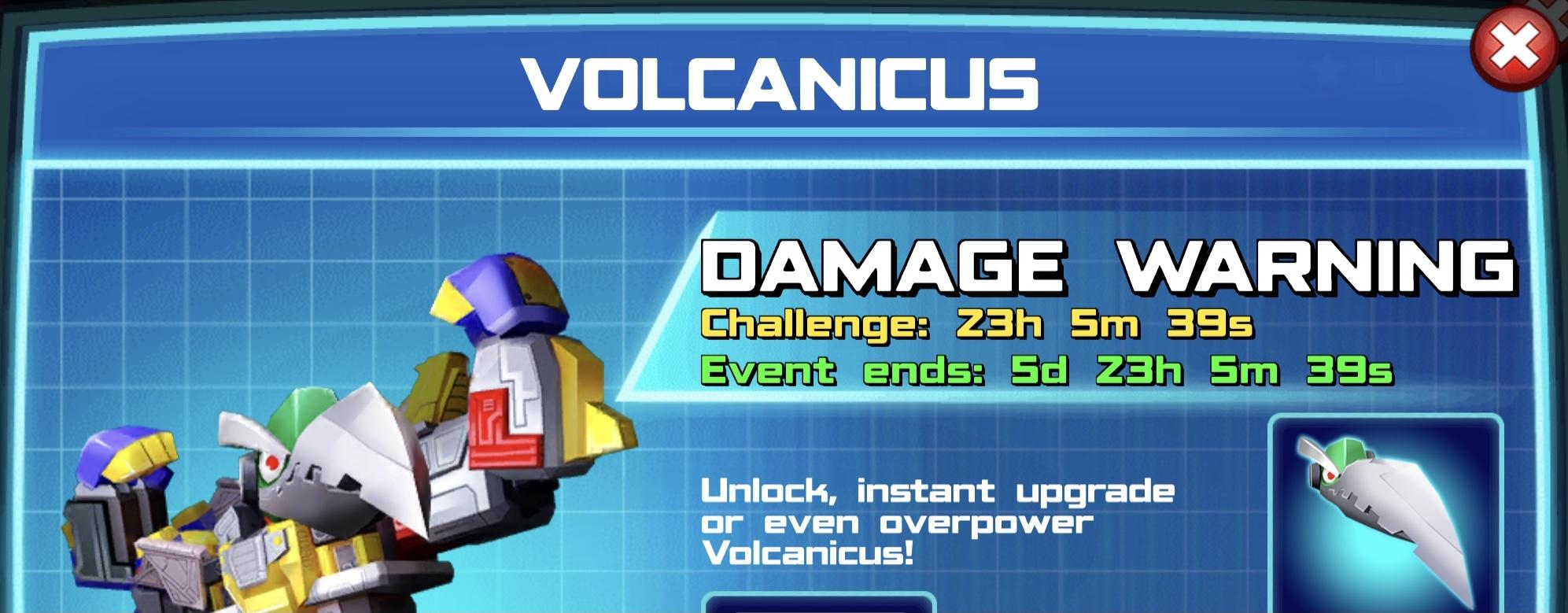 The event banner for Volcanicus