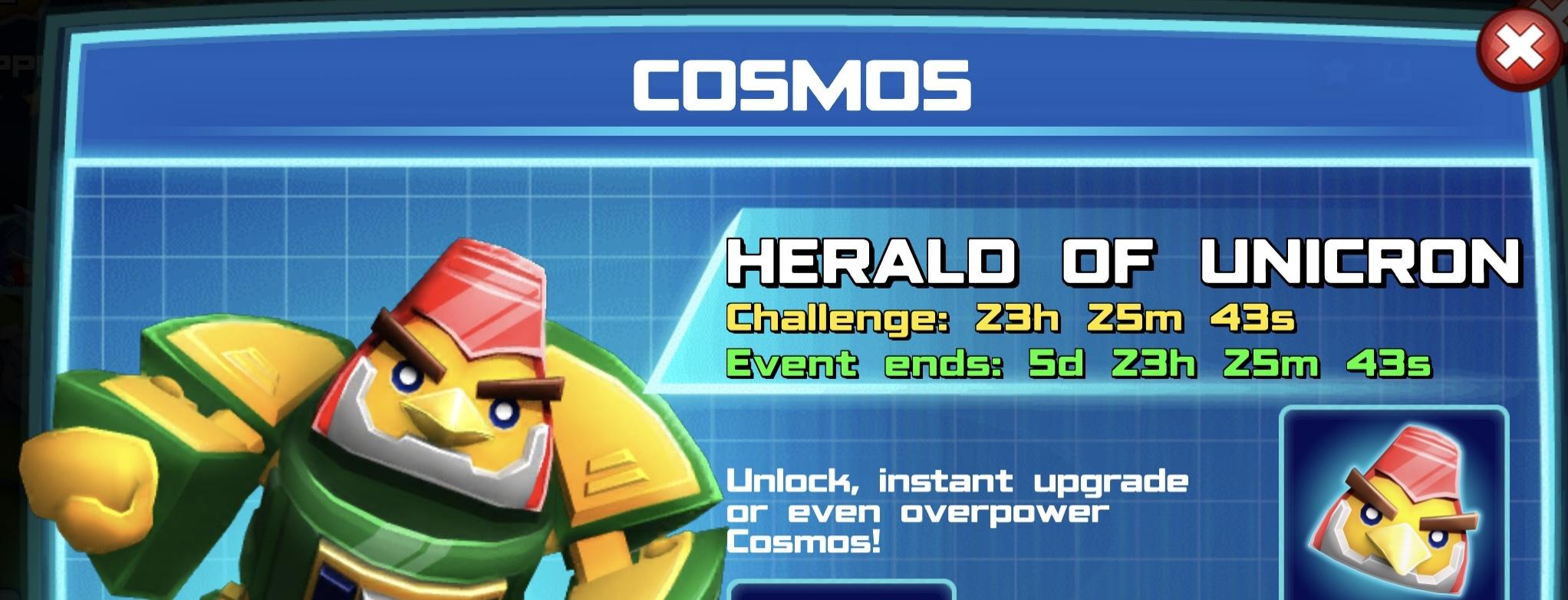 The event banner for Cosmos