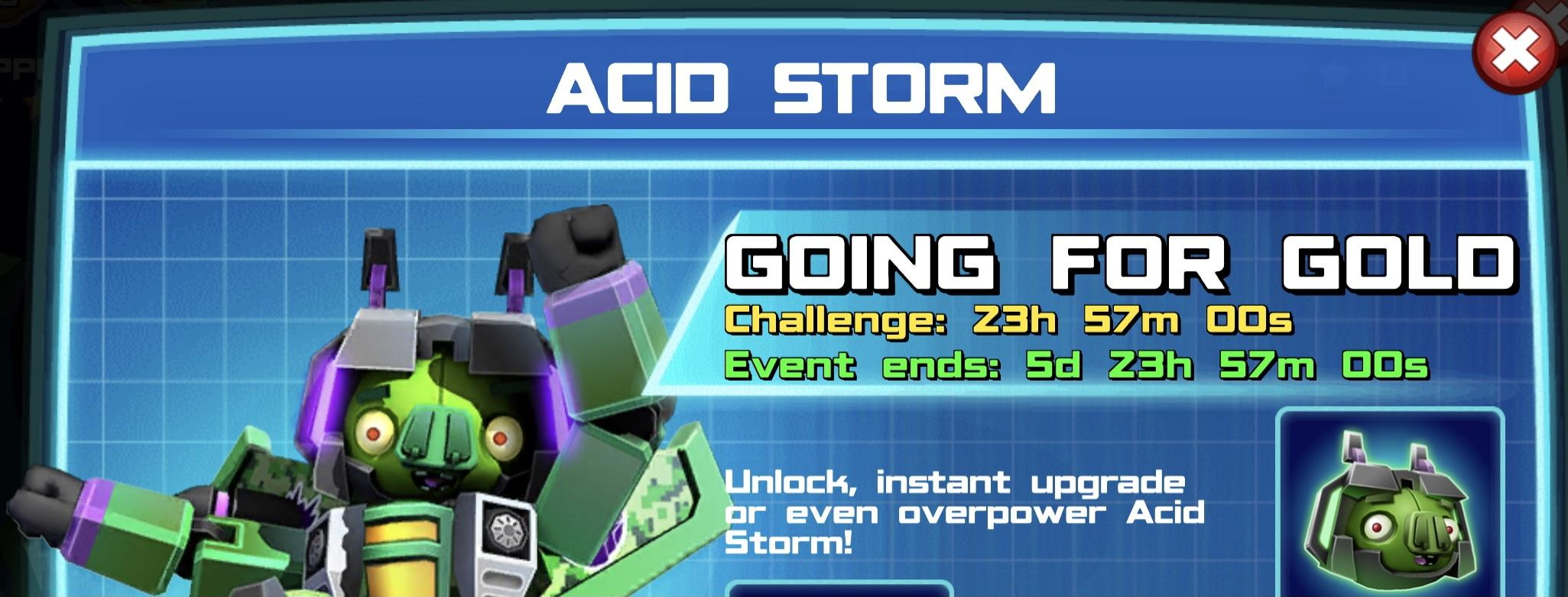 The event banner for Acid Storm