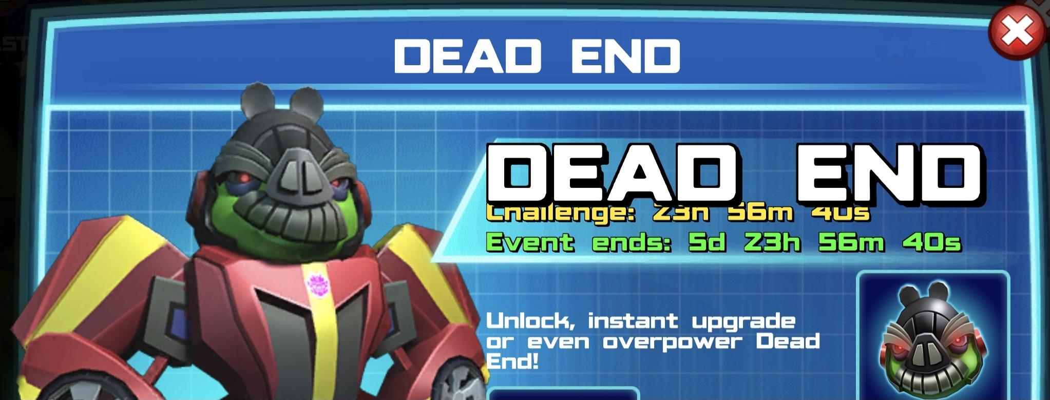 The event banner for Dead End