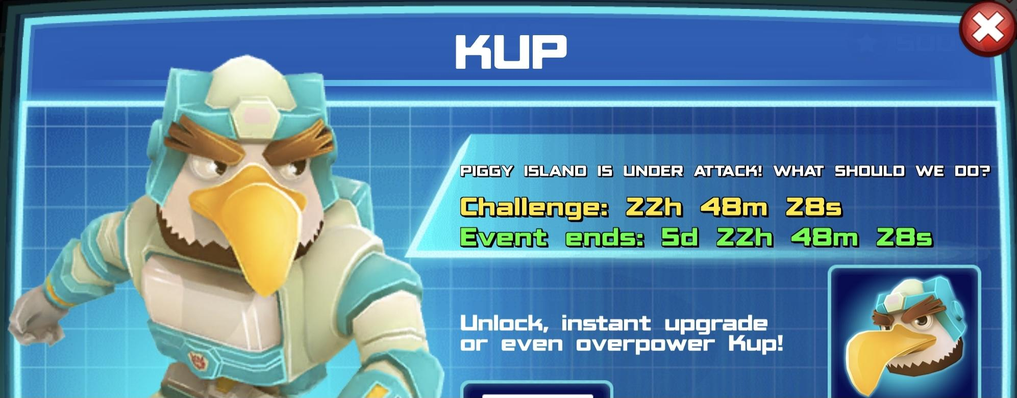 The event banner for Kup