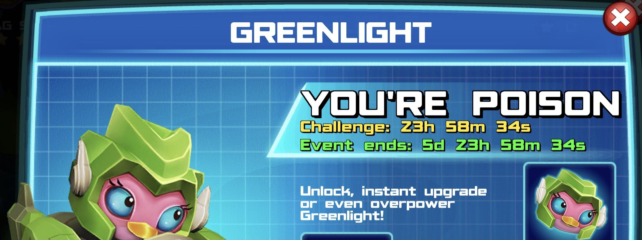 The event banner for Greenlight
