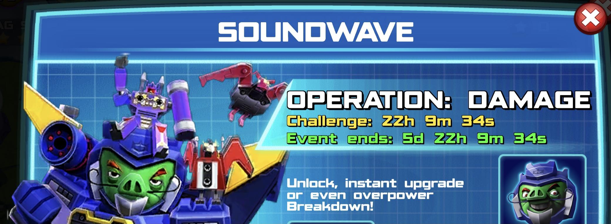 The event banner for Soundwave