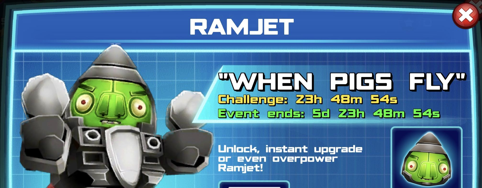 The event banner for Ramjet